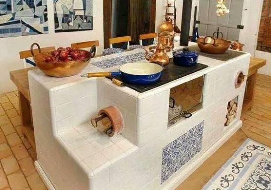 Model Soba Teracota Cu Plita Outdoor Kitchen Rocket Stoves Cooking Stove