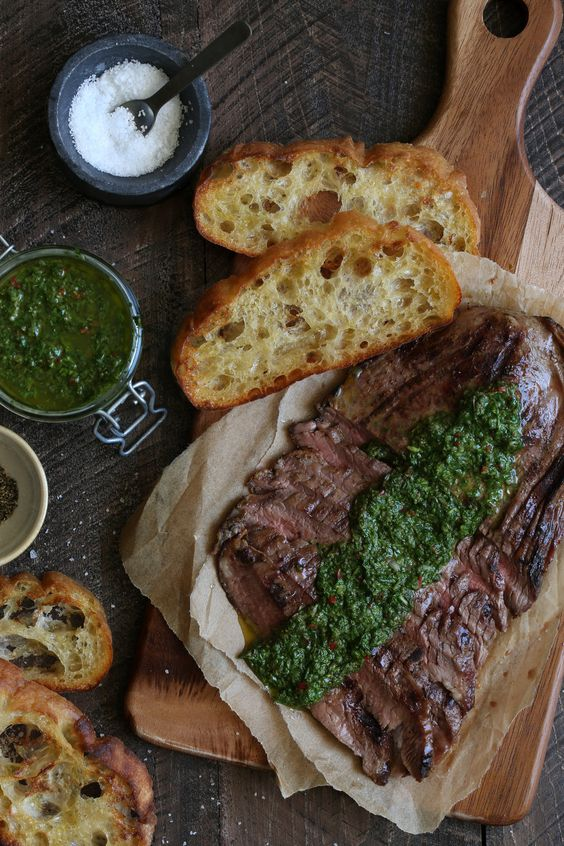 grilled skirt steak with chimichurri sauce recipe from ...