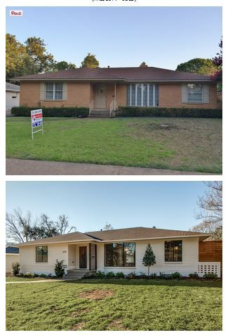 1960s brick rancher | painted brick | replaced windowns | that porch <3 <3