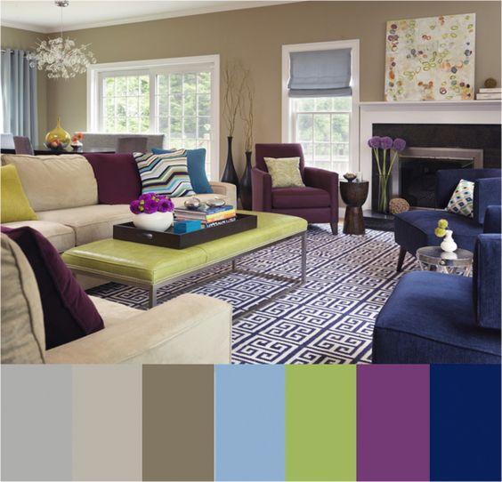 Paleta de colores para ambientes: