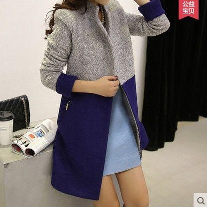 acheter automne manteau de laine manteau femme 2015 femmes cor ennes manteau. Black Bedroom Furniture Sets. Home Design Ideas