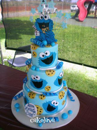 cakelava: C is for Cookie Monster. cake by Rick Reichart. www.cakelava.com