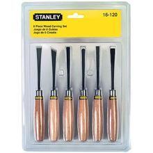 Jogo de formões para entalhar madeira com 6 peças Stanley