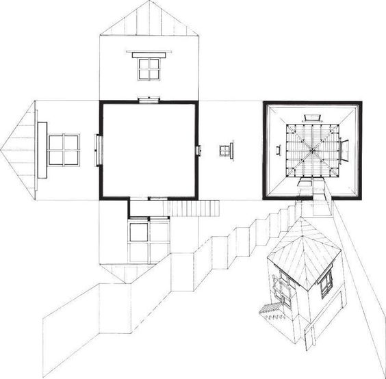Euan House Plan | 2 4 6 8 House Conceptual Drawing Perspective Elevations
