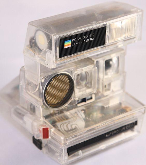 0254 Polaroid Autofoucs 660 Transparent Housing - Skeleton by Zokyo Labs, via Flickr