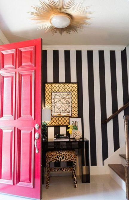 41 Ideas Wall Paper Ideas Entryway Foyers Funky Home Decor Contemporary Home Decor Wallpaper Living Room