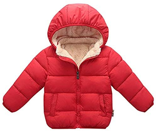 Toddler Infant Baby girls Winter Long Sleeve Warm Jacket Hooded Outerwear Coats