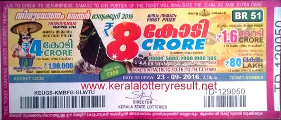 Kerala Lottery Result Today Live Available on 2:30pm ,Kerala lottery result Official result 3.30 pm.Thiruvonam Bumper result 2016