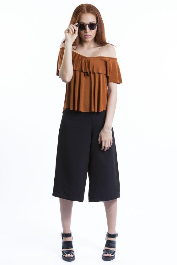 Pantacur Preta + Camiseta Terra