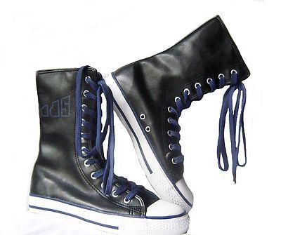 Damen Sneaker Schuhe Sommerschuhe Schwarz-Blau Neu Gr.36 € 19,95