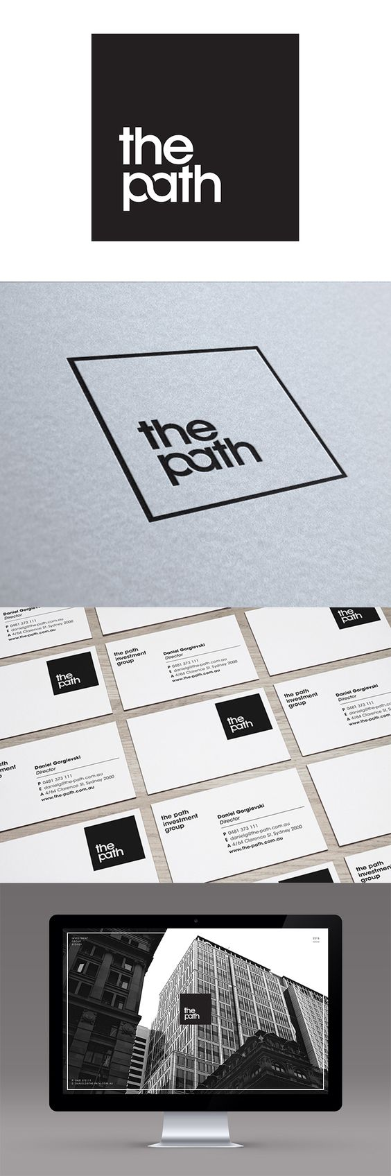 As one of Sydney's emerging investment companies, The Path approached Made to design a new logo mark. In response our team created an eye-catching identity that symbolises strength, security and reliability.graphic design logo inspiration design sydney made agency corporate stationery webdesign website web