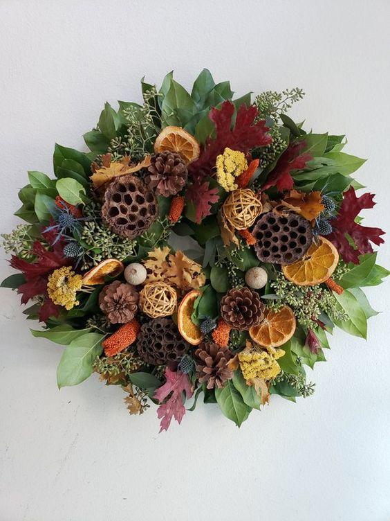 Fall Citrus Harvest Wreath