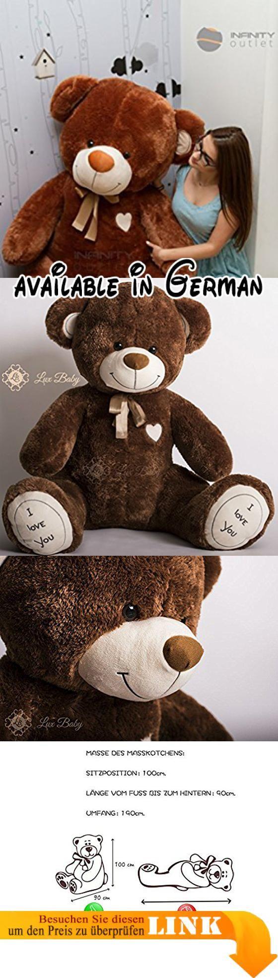 CHARLIE Farbe: BRAUN XXXL groß Teddybär Riesen Stofftier Kuschelbär ...