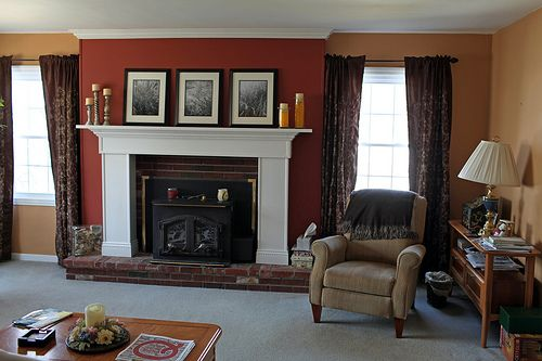 new paint in living room paint color pumpkin butter livingroom