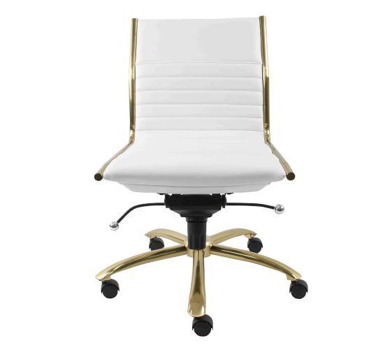 Fowler Armless Swivel Desk Chair In 2020 Swivel Chair Desk Desk Chair Chair
