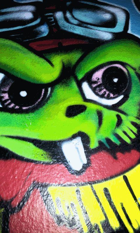 #onefaceaday - 140/365 - Angry Something - Artist unknown - Graffiti found in Schanzenviertel, Eifflerstraße, Hamburg. Photographed by GrafDal.