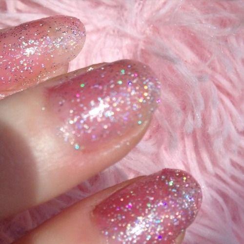 Imagem De Girly Nails And Pink Hair And Nails Pretty Nails Cute Nails