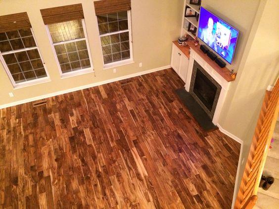 Tobacco Road Handscraped Teak Solid Wood Flooring From