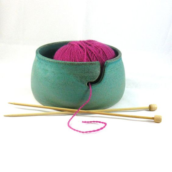 Stoneware Pottery Yarn Bowl by CrookedCreekStudio1 on Etsy, $30.00