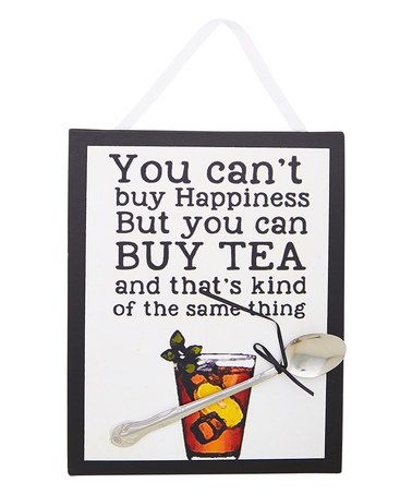 Another great find on #zulily! Black & White 'You Can't Buy Happiness' Wall Sign #zulilyfinds