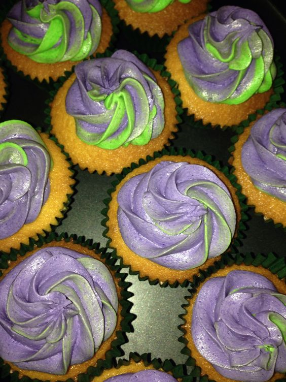 Lavender themed cupcake