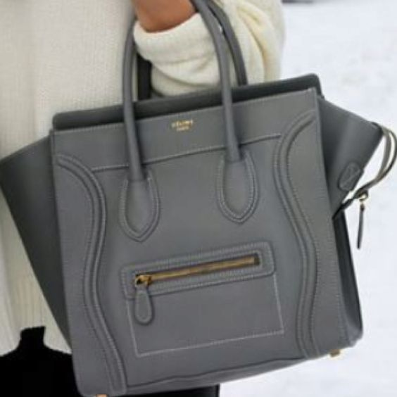 neon pink celine bag - Celine grey luggage - So glad I bought her 2+ years ago before ...
