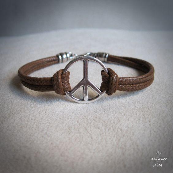 Pulsera paz hombre.
