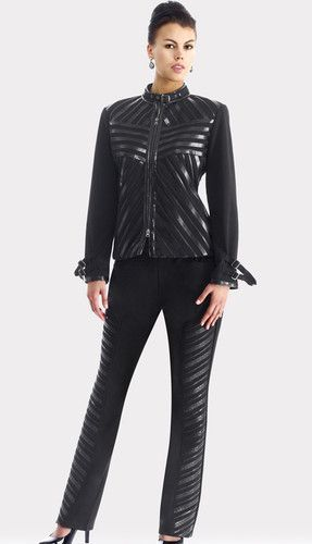 Leather Pant Suit