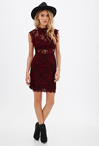 Floral Lace Sheath Dress | FOREVER21 - 2055880219