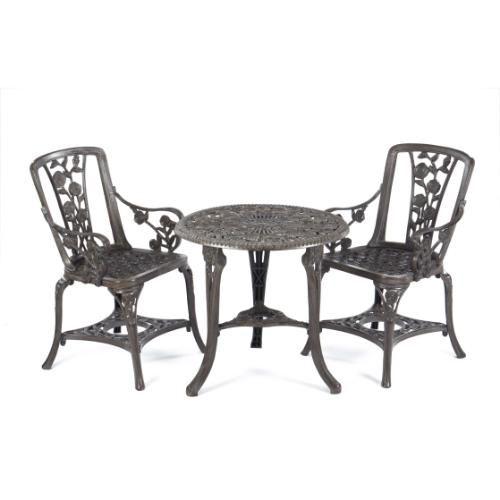 Gablemere 3 Piece Rose Armchair Patio Set Garden Table And