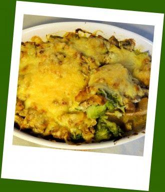 Low Carb Casserole with gyros and broccoli - Vitaminreicher Low Carb Gyros-Auflauf mit Broccoli und Champignons