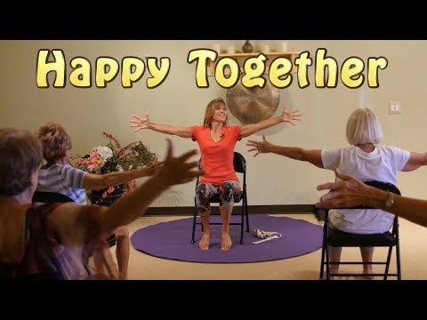 Happy Together A Chair Yoga Dance We All Can Do Together With Sherry Zak Morris Youtube Chair Yoga Yoga For Seniors Senior Fitness