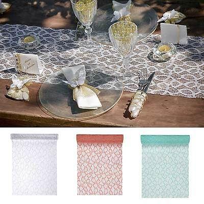 Tischläufer Spitze 28cm x 5m Tischband Dekoration, Vintage Hochzeit