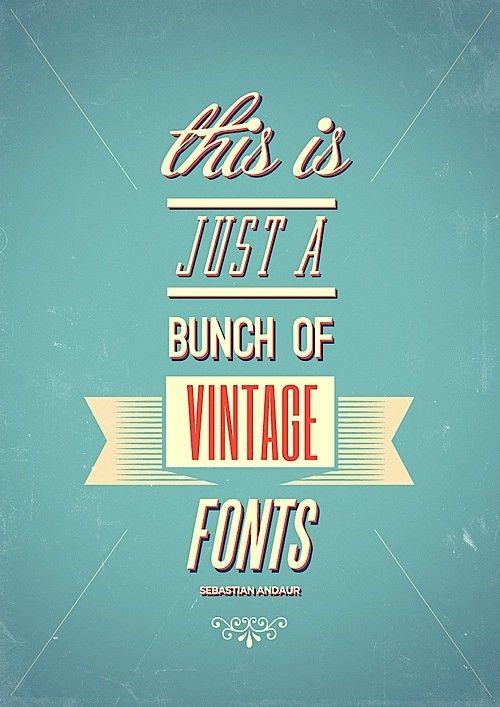 vintage fonts!