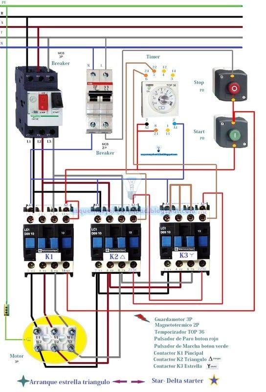Arranque Estrella Triangulo Star Delta Starter Postimage Org Electrical Circuit Diagram Home Electrical Wiring Electrical Wiring
