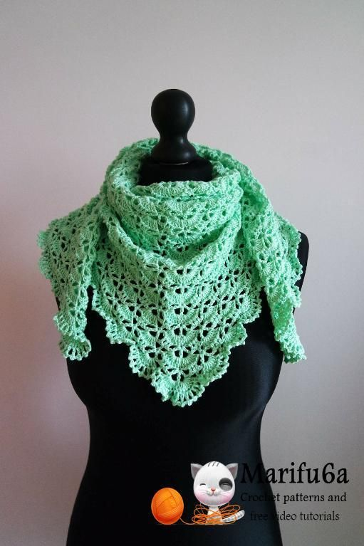 Looking for your next project? You're going to love spring crochet baktus wrap shawl by designer marifu6a. - via @Craftsy