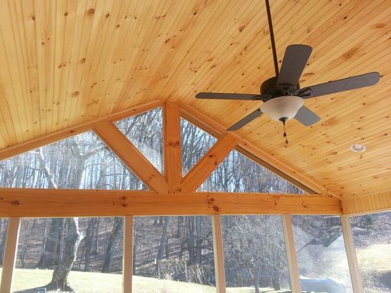 Tongue and groove, Screened in porch and Pine on Pinterest