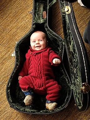 baby in a cabled union suit!