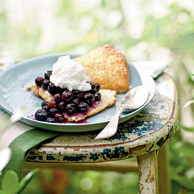 Gingered Blueberry Shortcake