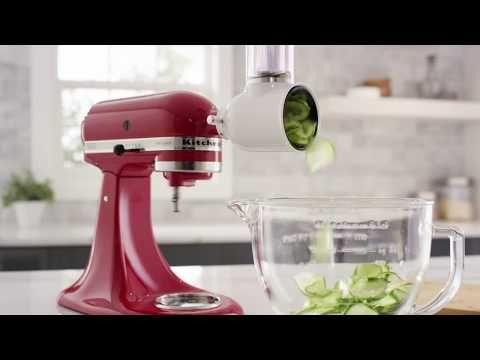 35 How To Use The Fresh Prep Slicer Shredder Attachment Kitchenaid Youtube Kitchen Aid Food Slicer Kitchen Aid Attachments