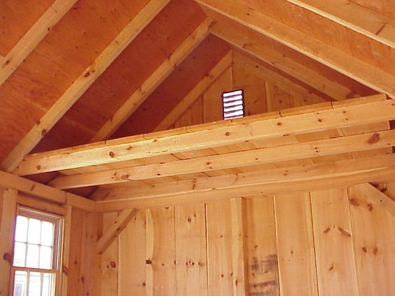 Shed With Loft Plans 4 Ft X Building Width Interior Options Storage Outdoors Pinterest Plan Lofts And