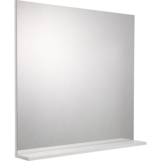 Miroir Avec Tablette Blanc L 80 0 Cm Opale Miroir Avec Tablette Miroir Et Decoration Maison