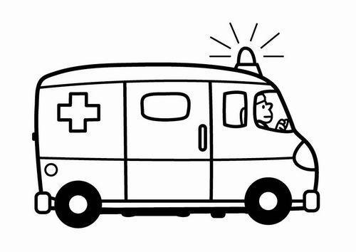 Coloring Page Ambulance In 2020 Krankenwagen Kinder Zeichnen Ausmalbilder Kinder