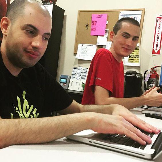 Pat and Tarek working hard #PeopleOfAllAbilities #PursuingHisDreams #autism #fun