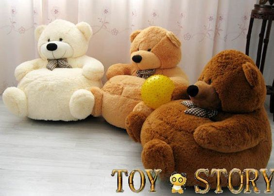 Buy soft chair kid sofa plush sofa teddy bear stuffed for Small stuffed chairs
