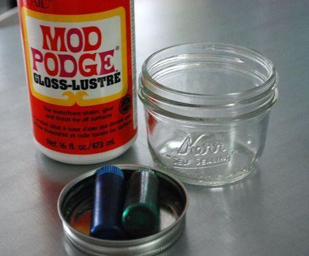Color Mason Jars w/ Modge Podge