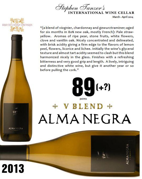 #AlmaNegra V Blend 2013 - 89 points - Stephen Tanzer's International #Wine Cellar