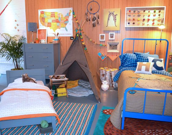 Outdoor-inspired boy's room from the @The Land of Nod's Fall Collection! #boysroom #landofnod