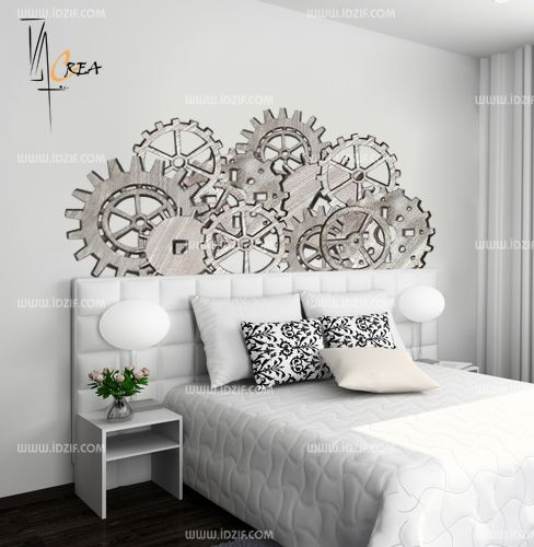 stickers muraux tete de lit maison design. Black Bedroom Furniture Sets. Home Design Ideas