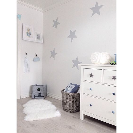 Ikea Kinderzimmer Deko Blatt ~ noch mehr om leis sterne deko ikea ikea hacks grau kinderzimmer hemnes